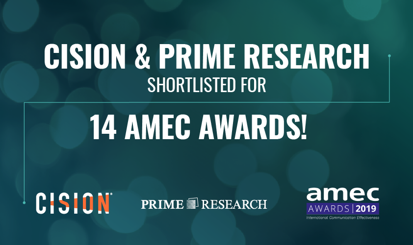 Cision secure most nominations for 2019 AMEC Awards