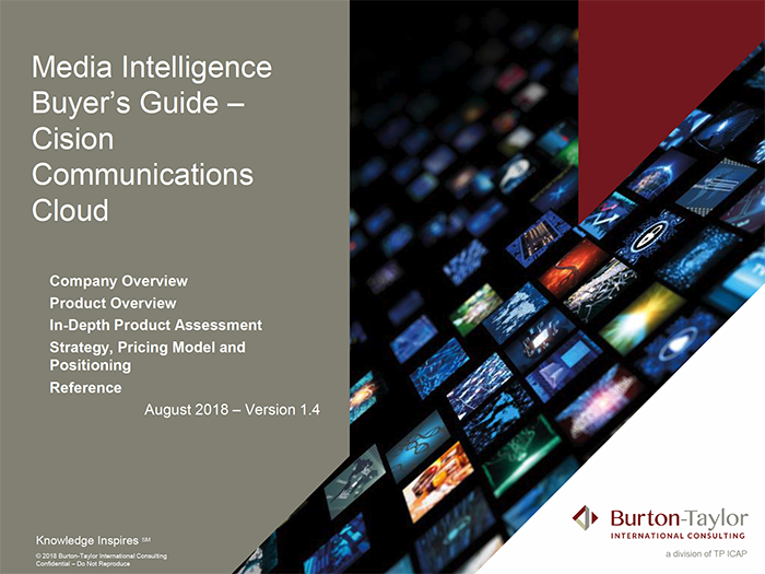 Burton-Taylor Cision Communications Cloud Analysis